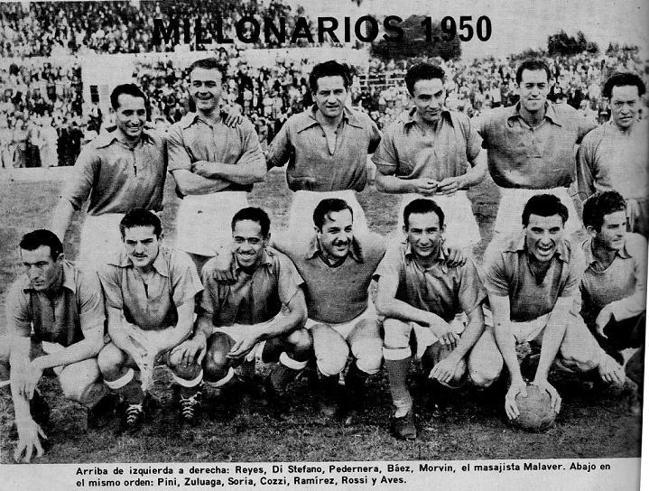 Millonarios en 1950 jugando en Cartagena