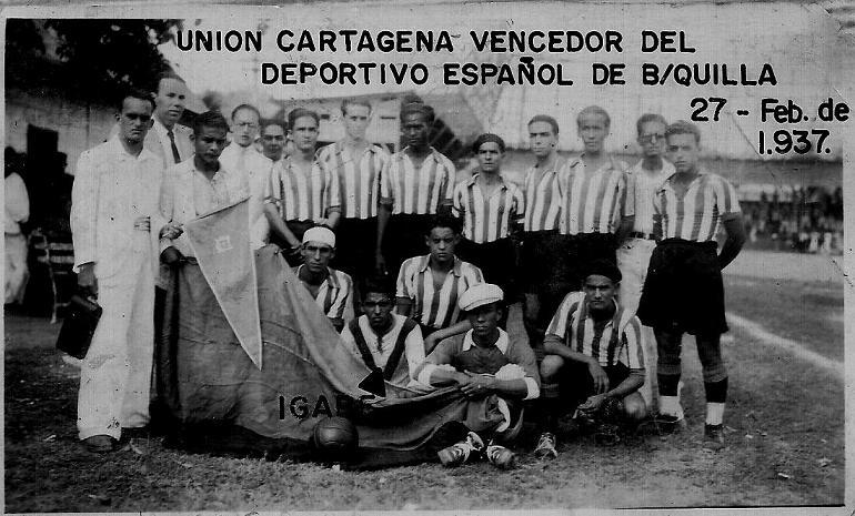 Equipo Unión Cartagena, 1937.